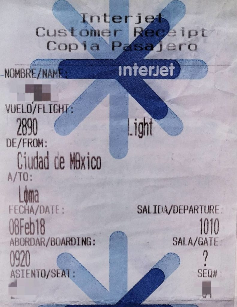 西班牙语-登机牌